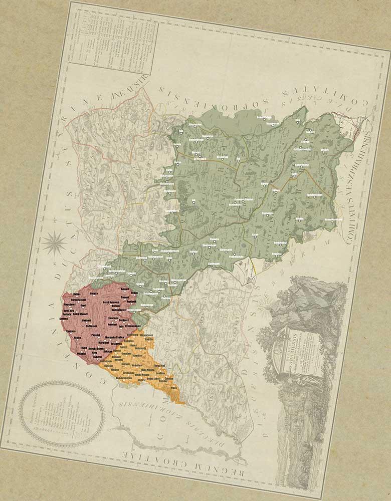 Zemljevid sombotelske škofije